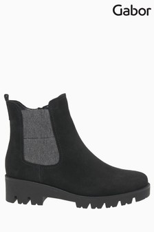 Gabor Newport Dark Grey Suede Chelsea Boots