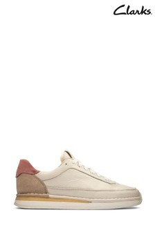 Clarks White Rose Combi Craft Run Lace Shoes