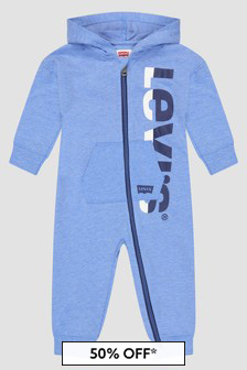 Levis Kidswear Baby Boys Blue Rompersuit