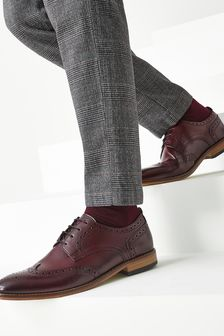 Mens Contrast Sole Leather Brogues
