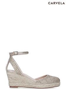 Carvela Gold Sabrina Bling Sandals