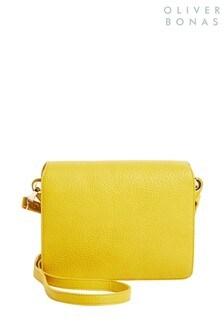 Oliver Bonas Yellow Jessie Multi Strap Cross-Body Bag