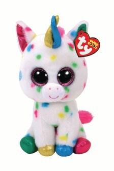 """TY Harmonie Unicorn Beanie Boo Medium 10"""" Soft Toy"""