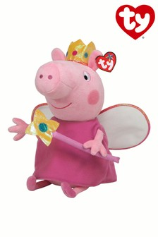 "TY Peppa Pig Princess Medium 10"" Soft Toy"