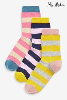 Boden Pink Ankle Socks 3 Pack