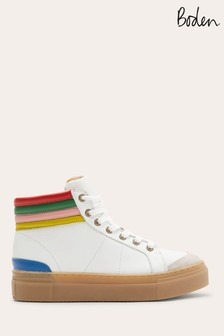 Boden White Amber High Top Trainers