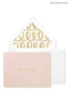 kate spade new york Heart Knot Bridal Thank You Card Set