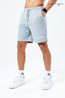 Hype. Mens Charcoal Scribble Logo Jersey Shorts