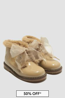 Andanines Girls Neutral Boots