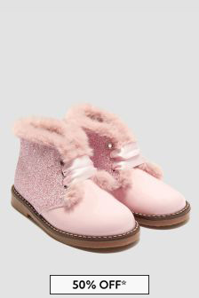 Andanines Girls Pink Boots