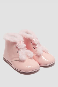 Andanines Baby Girls Pink Boots
