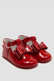 Andanines Baby Girls Red Shoes