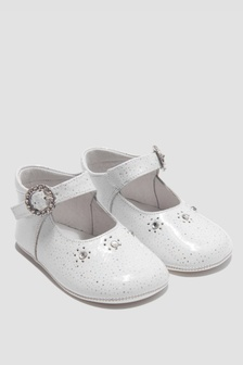 Andanines Baby Girls White Shoes