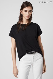 AllSaints Black Relaxed Fit Imogen T-Shirt