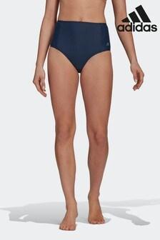 adidas Blue High Waisted Bikini Bottoms