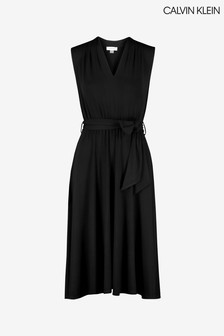 Calvin Klein Blue Midi Dress