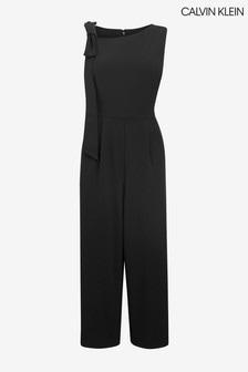 Calvin Klein Black Scuba Crepe Jumpsuit