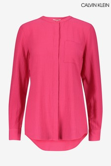 Calvin Klein Pink Button Down Blouse