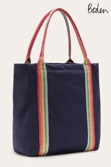 Boden Blue Olivia Canvas Tote Bag