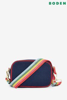 Boden Blue Olivia Canvas Cross-Body Bag