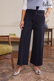 Boden Blue Ponte Pull-On Culottes