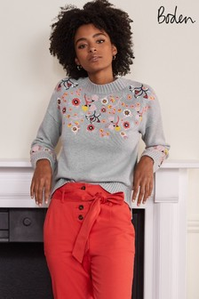 Embroidered Relaxed Jumper