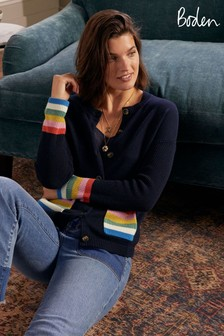 Boden Stripe Pocket Relaxed Cardigan