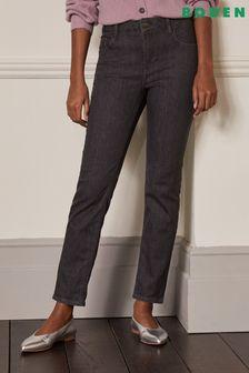 Boden Grey Slim Straight Jeans