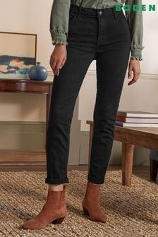 Boden Black Slim Straight Jeans