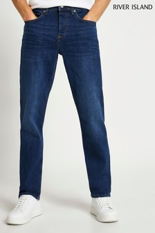 River Island Blue Medium Straight Fera Jeans