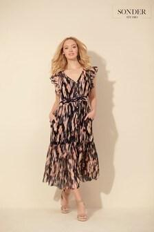 Sonder Studio Blurred Floral Dress