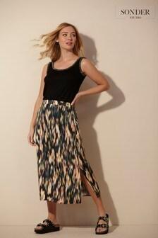 Sonder Studio Blurred Floral Slip Skirt