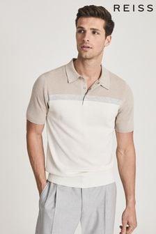Reiss Natural Cairns Colourblock Polo Shirt