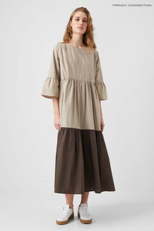 French Connection Brown Arallana Organic Rhodes Dress