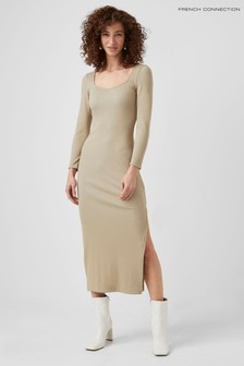 French Connection Nude Sheryl Recycled Jersey Dress