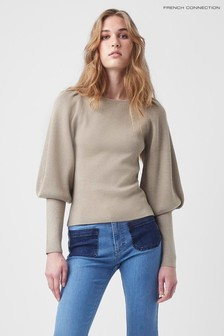 French Connection Nude Joss Knits Slash Nk L/S Jumper