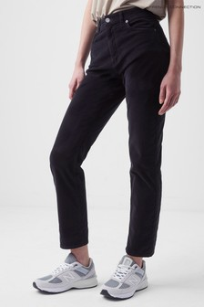 French Connection Black Paula Micro Cord Jeans