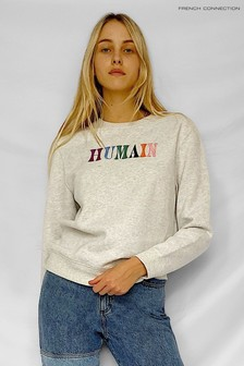 French Connection Grey Humain Crew Sweatshirt