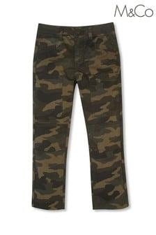 M&Co Green Cargo Camo Print Trousers