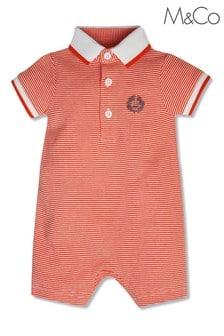 M&Co Orange Stripe Romper