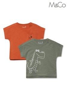 M&Co Green Crocodile Tops 2 Pack
