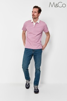 M&Co Plain Rugby Top
