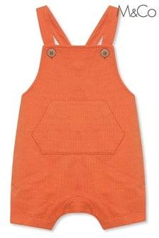 M&Co Orange Dungarees