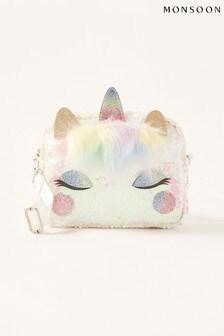 Monsoon Pink Sequin Unicorn Bag