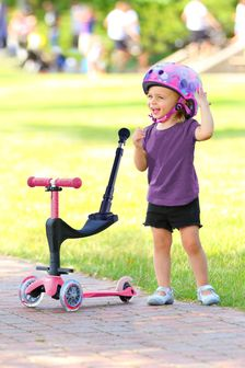 Micro Scooter Pink 3-In-1 Push Along Scooter