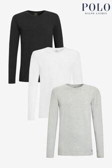 Polo Ralph Lauren Black Long Sleeve T-Shirt 3 Pack