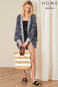 Monsoon Blue Callie Printed Cocoon Cover Up