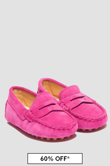 Tods Girls Pink Loafers