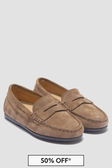 Tods Boys Brown Loafers