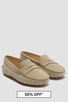 Tods Boys Beige Loafers